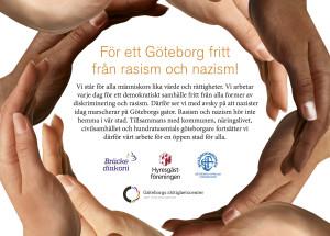 Annons nej till rasism